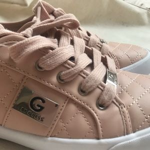 G by Guess Blush Quilted Lace-Up Sneaker